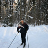 Skiing in our local Butovo forest. (2006)