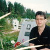 At his Mother's grave in Zlatoust. (2002)