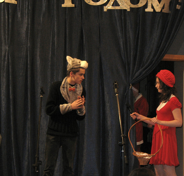 Little Red Riding Hood & the wolf. Anya & Arseny. (12.2008)