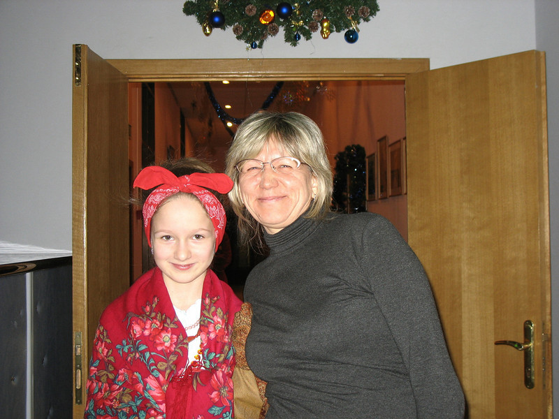 Polly & her mom. (12.2008)
