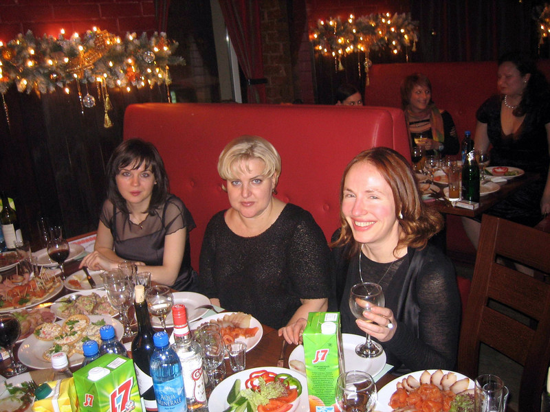 Vika Ivanova, Natasha Chrirkova, Inna Arkhipova (left to right).