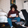 Reading my 1st letter from home. Moscow (11.1991)