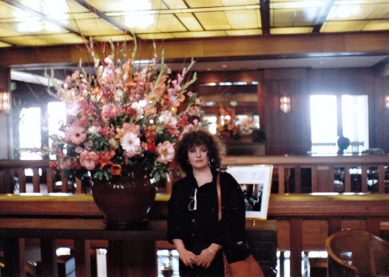 In the lobby of our Monterey, CA hotel. (1991)