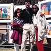 With our friend, Cynthia. Art in the Park. Beverly Hills. (1991)