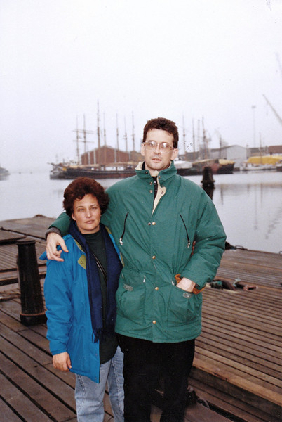 In Denmark following Rustem's release from the hospital after having been shot. (10.1993)