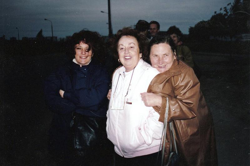 Susan with Mom Gilman & Mom Safronova. Moscow. (06.1992)