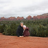 Enjoying Sedona's beauty despite the gloom.