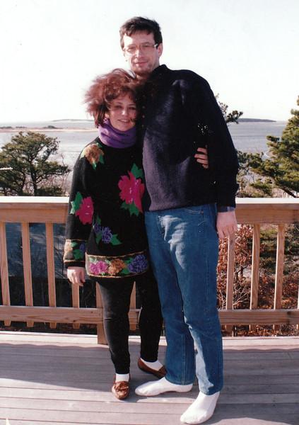 On Evi Sheffres' balcony. Cape Cod (1992)