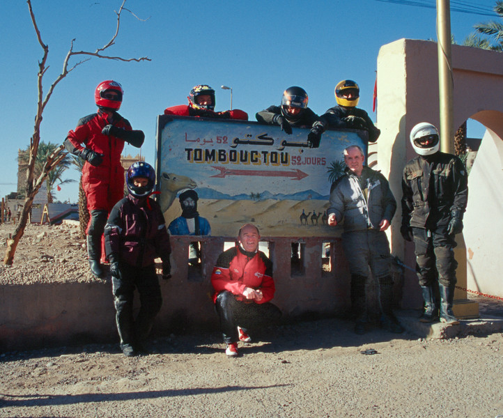 only 52 days to Timbuktu (Mali). Sign in Southern Morocco