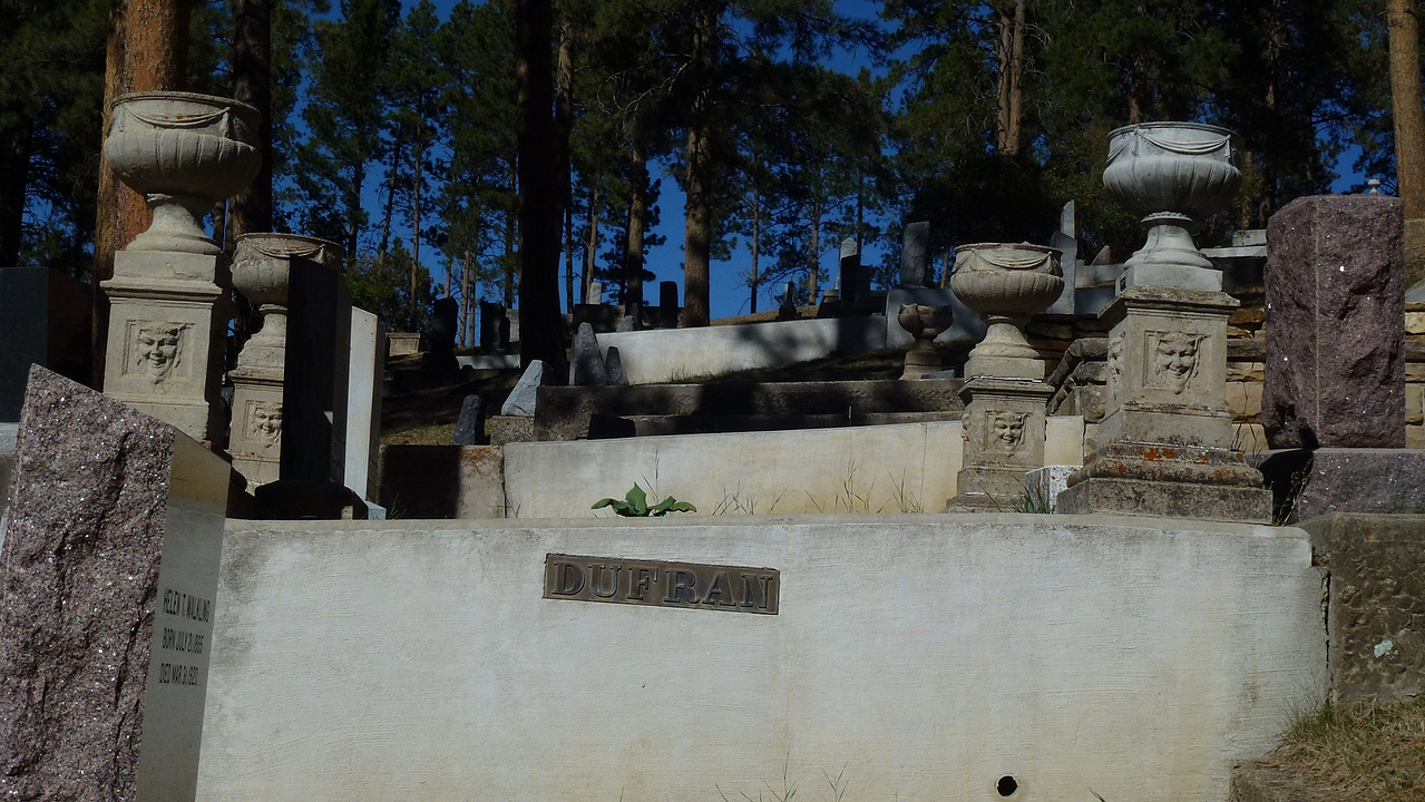 This is the tomb of a Madam who had a whore house in Deadwood and other towns.She was a great friend of Calamity Jane