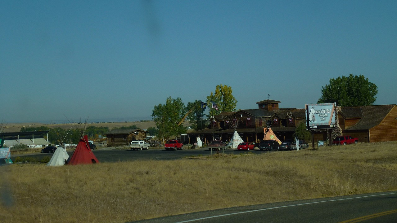 The trading post/tourist store run by the 1st nations at Little Big Horn.
