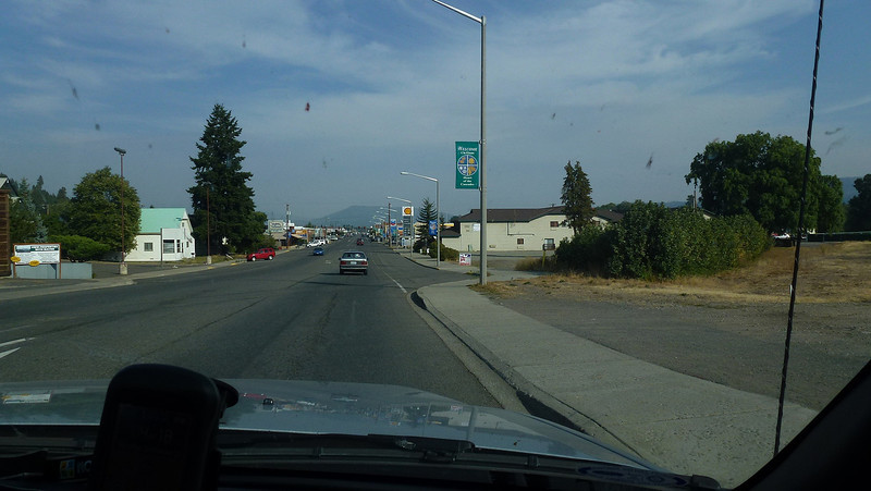 The wee town of Cle elum.In the heart of forestry country.There were forestry fires  not too far away.So smoke in the air.