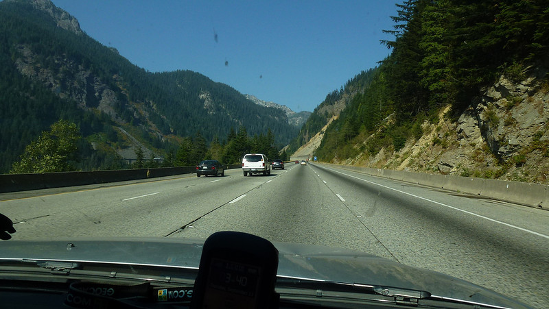 On the road again out of Seattle heading towards Che elum.