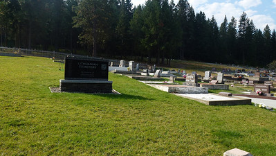 Cemetery at the small town of Roslyn 7km behind Ele Clum, it was a coal mining town and people came from all over the world, people are buried by there  ethnic group or what lodge they belong to.