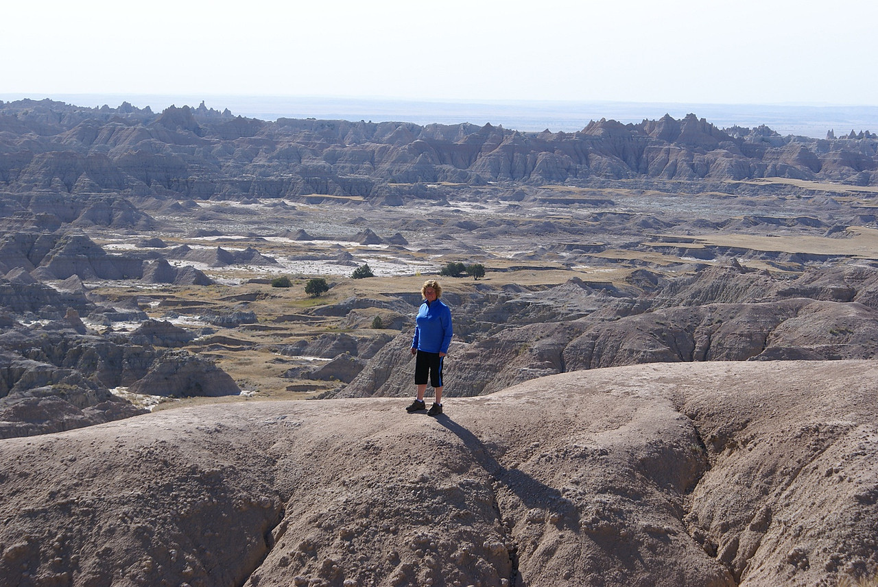 This day we went all the way to the Badlands and worked our way back to Spearfish.This was as far as I was going as there was a sheer drop the other side.