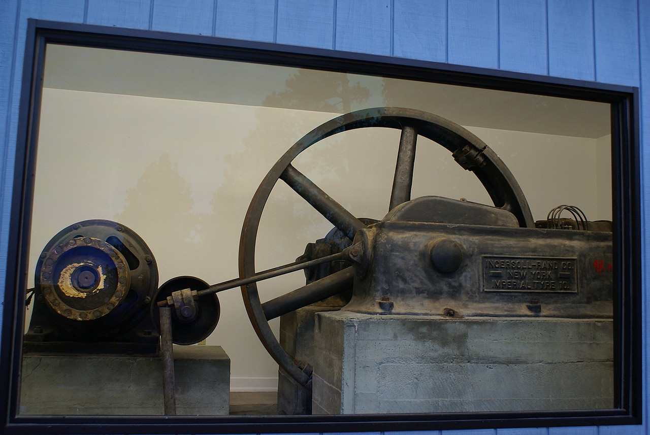 machinery used to power drills for the sculpture.