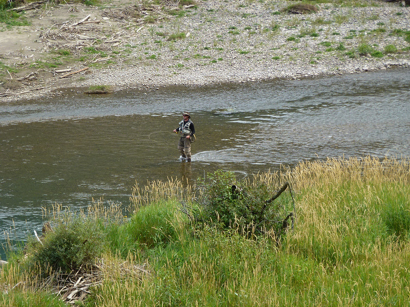 Fly fishing at Crows Nest Pass