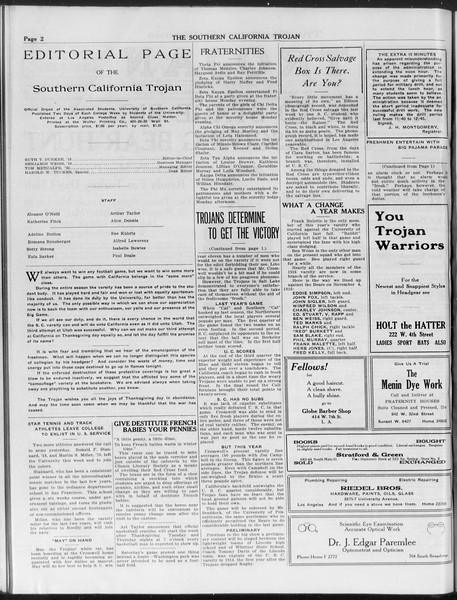 The Southern California Trojan, Vol. 9, No. 18, November 27, 1917