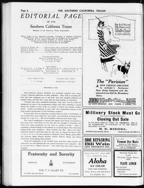 The Southern California Trojan, Vol. 8, No. 44, December 08, 1916