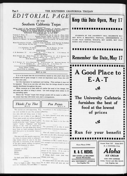 The Southern California Trojan, Vol. 7, No. 114, May 10, 1916