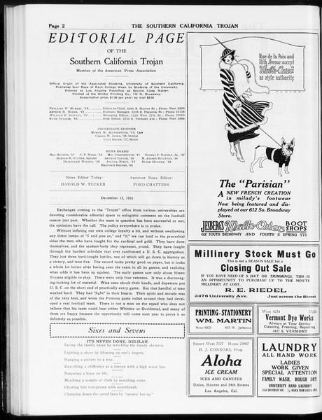 The Southern California Trojan, Vol. 8, No. 45, December 12, 1916