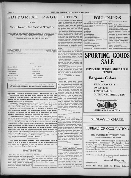 The Southern California Trojan, Vol. 9, No. 8, October 23, 1917