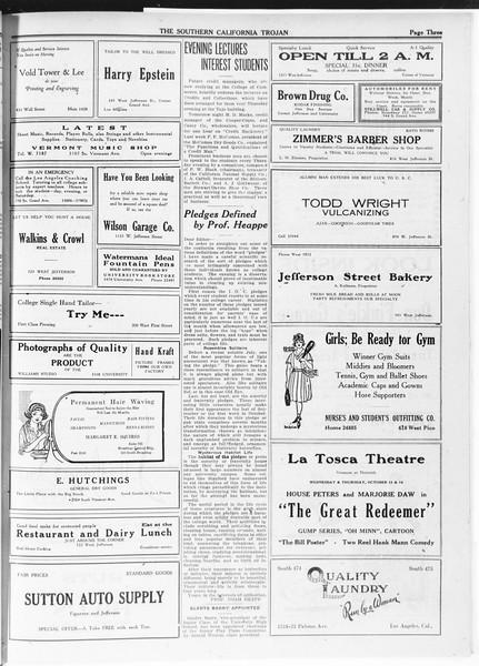 The Southern California Trojan, Vol. 12, No. 11, October 13, 1920