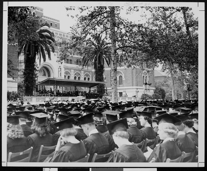 University of Southern California Commencement, 1954