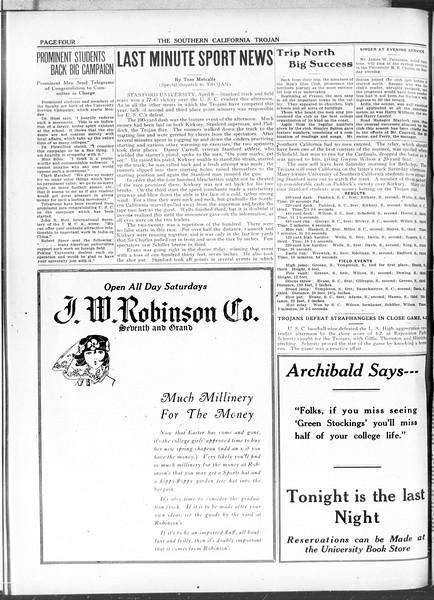 The Southern California Trojan, Vol. 11, No. 81, April 09, 1920