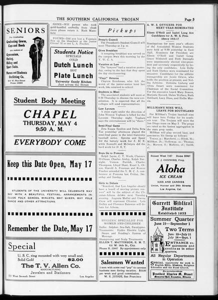 The Southern California Trojan, Vol. 7, No. 110, May 03, 1916