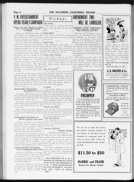 The Southern California Trojan, Vol. 8, No. 19, October 19, 1916