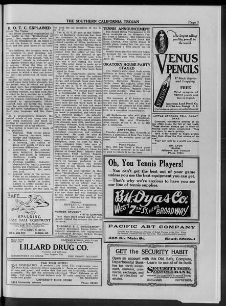 The Southern California Trojan, Vol. 10, No. 13, April 11, 1919