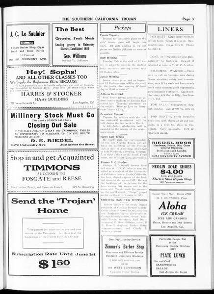 The Southern California Trojan, Vol. 8, No. 62, February 06, 1917