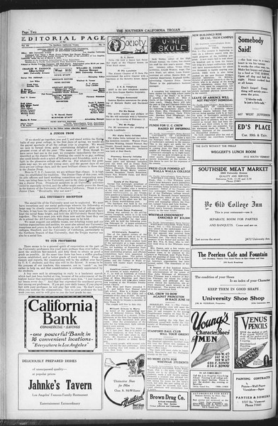 The Southern California Trojan, Vol. 12, No. 55, February 02, 1921