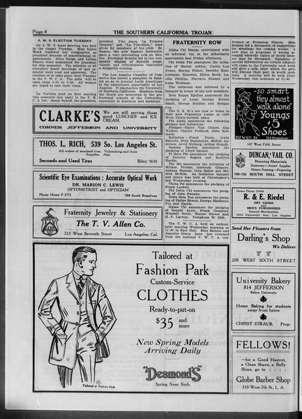 The Southern California Trojan, Vol. 10, No. 5, March 07, 1919