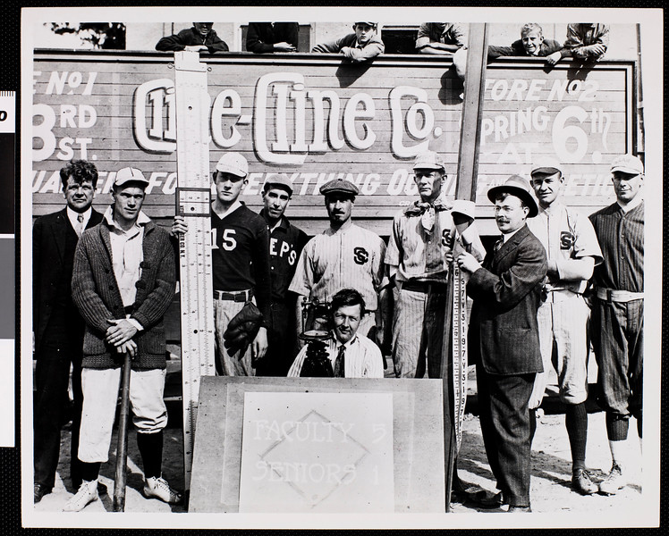 Faculty team that won its annual baseball game against Seniors, USC, 1916