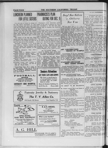 The Southern California Trojan, Vol. 11, No. 27, December 03, 1919
