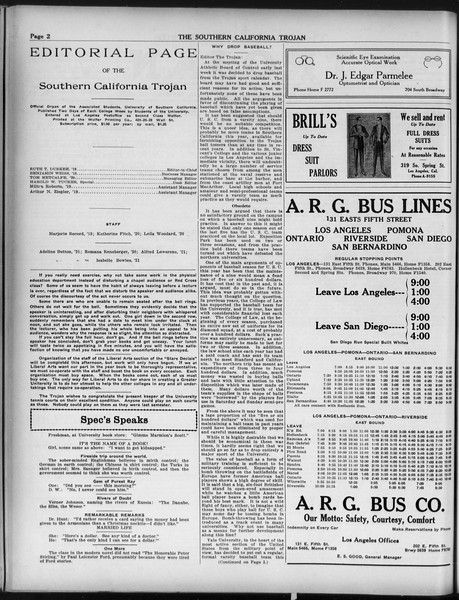 The Southern California Trojan, Vol. 9, No. 27, February 15, 1918