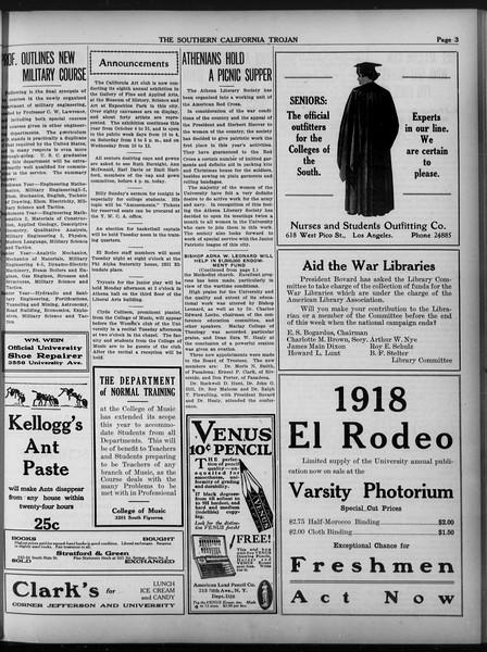 The Southern California Trojan, Vol. 9, No. 5, October 12, 1917