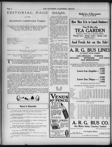 The Southern California Trojan, Vol. 9, No. 21, December 13, 1917