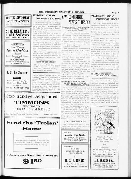 The Southern California Trojan, Vol. 8, No. 67, February 14, 1917