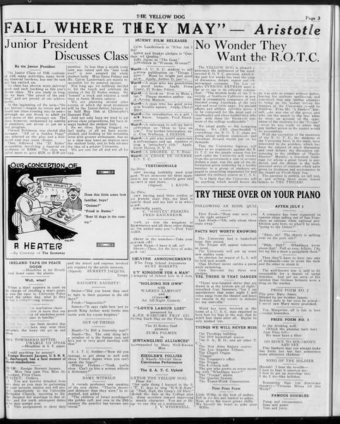 The Yellow Dog, Vol. 1, No. 1, April 24, 1919