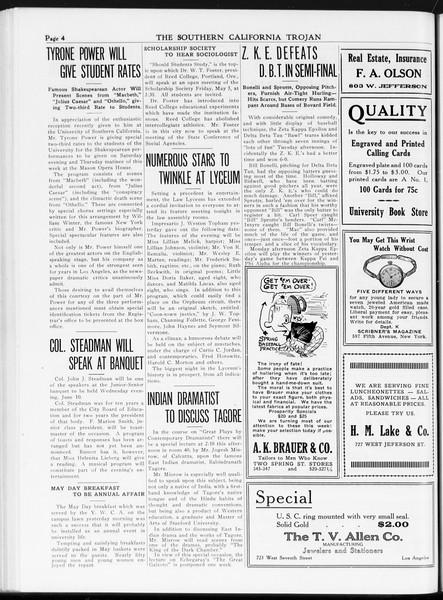 The Southern California Trojan, Vol. 7, No. 111, May 04, 1916