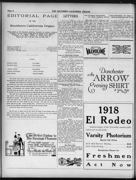 The Southern California Trojan, Vol. 9, No. 16, November 20, 1917