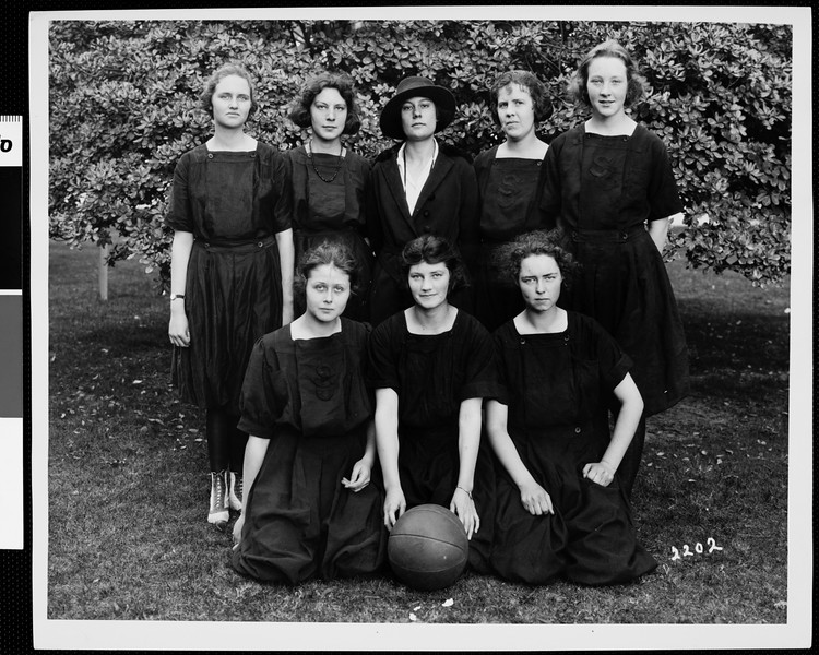 University of Southern California girls' basketball team, USC, ca. 1920