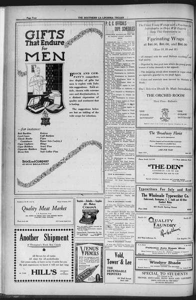 The Southern California Trojan, Vol. 12, No. 37, December 03, 1920