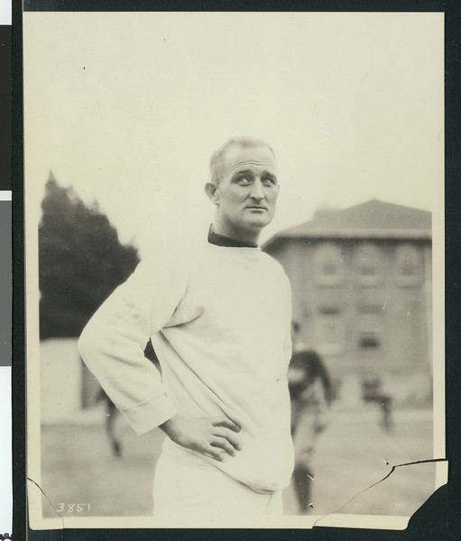 Bill Hunter, University of Southern California assistant football coach, USC campus, Los Angeles, 1923.