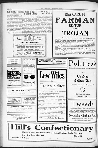 The Southern California Trojan, Vol. 12, No. 80, May 13, 1921
