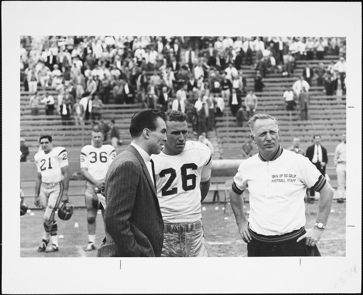 USC football player, staff and coach (?), [s.d.]
