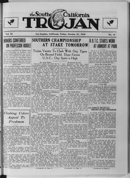 The Southern California Trojan, Vol. 11, No. 13, October 31, 1919